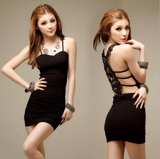 Alluring Black Club Dress For Party