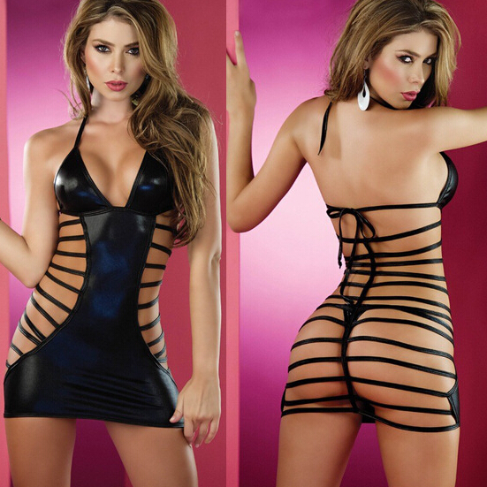 Black Mesh Sexy Party Club Wear Dress