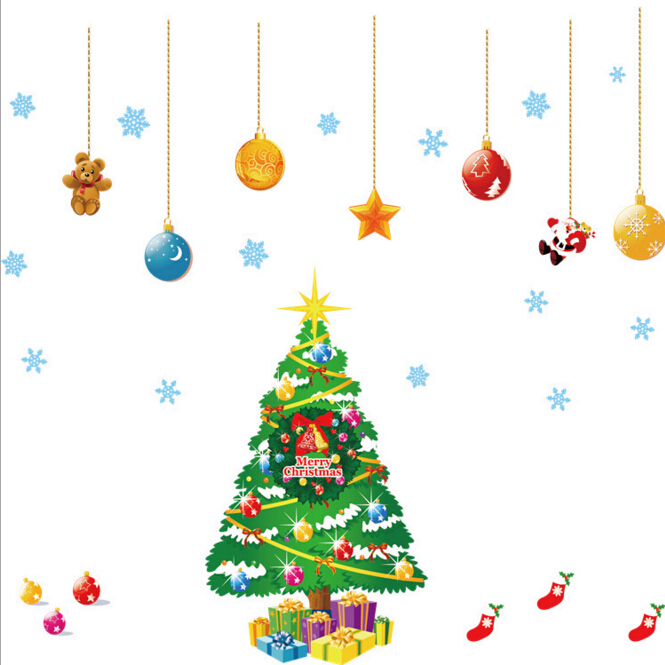 Christmas Window Decoration Wall Sticker A