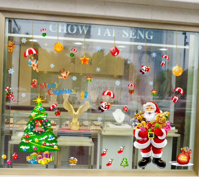 Christmas Window Decoration Wall Sticker A+B