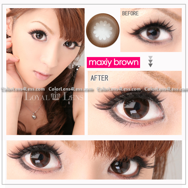 WX BROWN Color Contact Lens (PAIR)