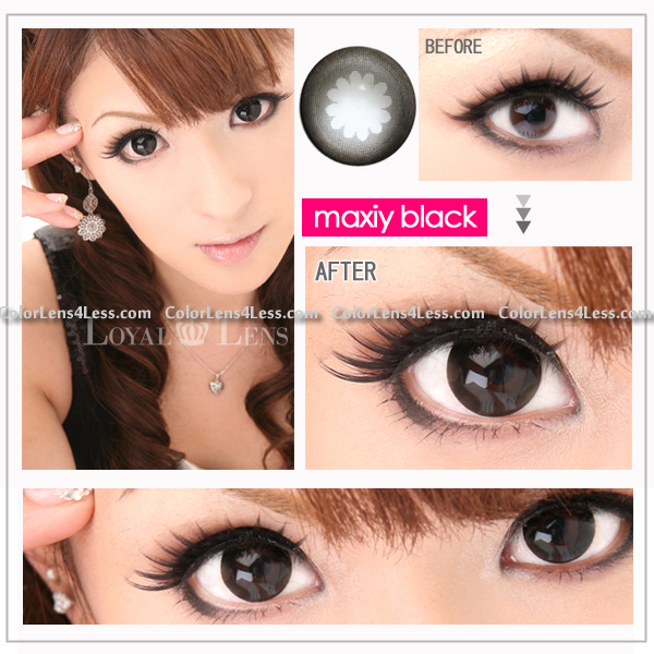 WX Black Colored Contacts (PAIR)