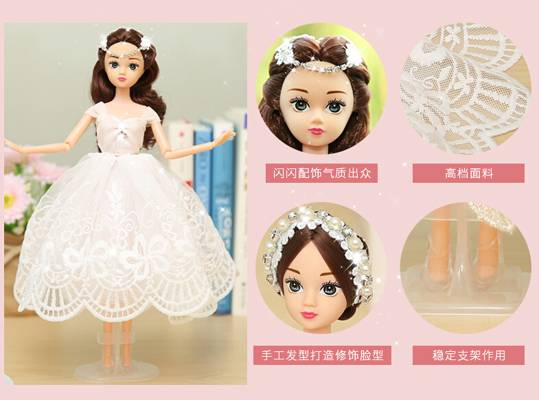 White Barbie Wedding Dolls For Car Decoration