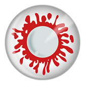 Blood Splat Zombie Contacts (pair)