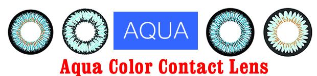 Aqua Color Contact Lens