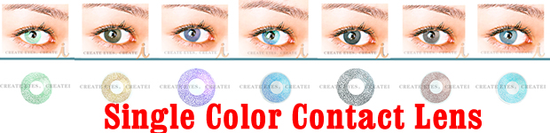 Single Color Contact Lens