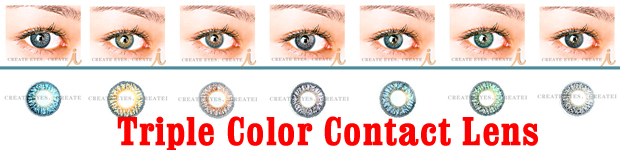 Triple Color Contact Lens