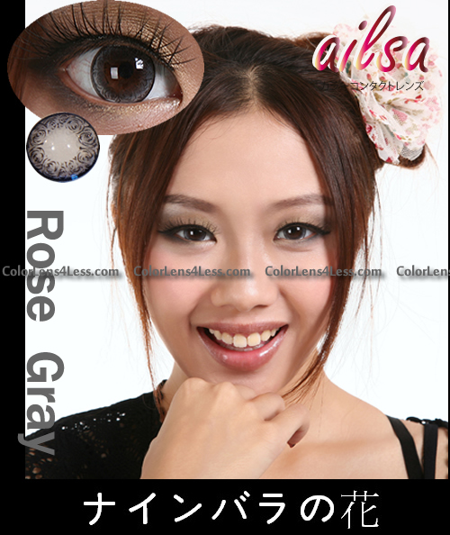 ailsa Rose Gray Colored Contacts (PAIR)