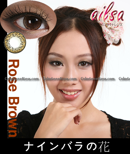 ailsa Rose Brown Colored Contacts (PAIR)