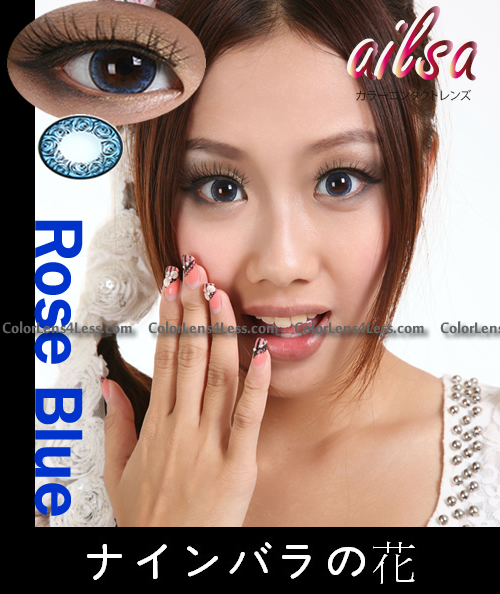 ailsa Rose Blue Colored Contacts (Pair)