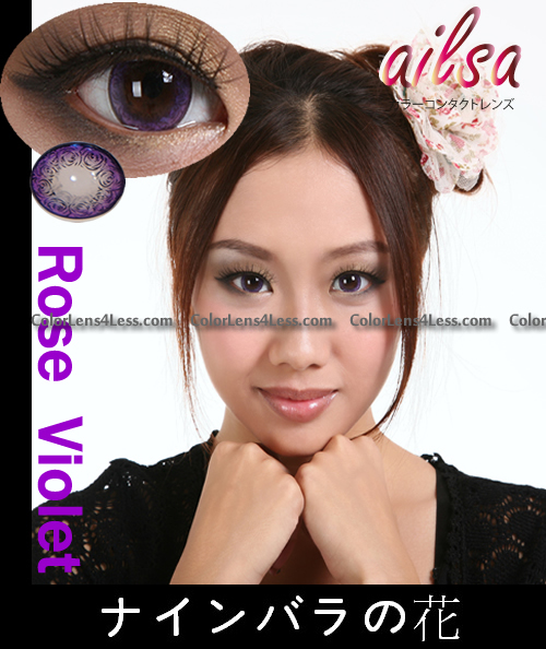 ailsa Rose Violet Colored Contacts(PAIR)