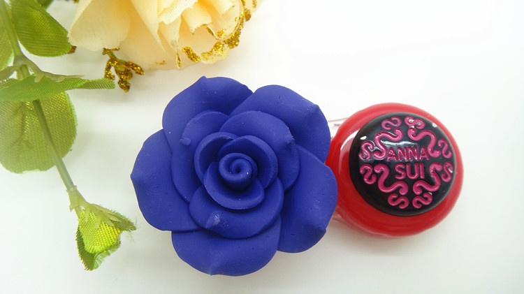Camellia 3D Handmade Rose Flower Contact Lenses Box & Case CC15