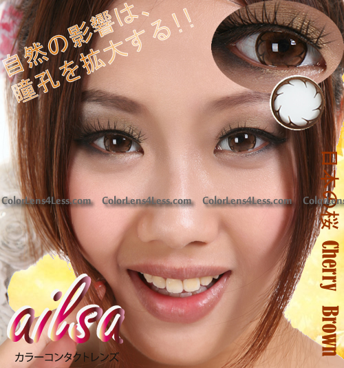 ailsa Cherry Brown Colored Contacts (PAIR)