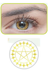 Ciel 1 Tone Halloween Contacts (PAIR)