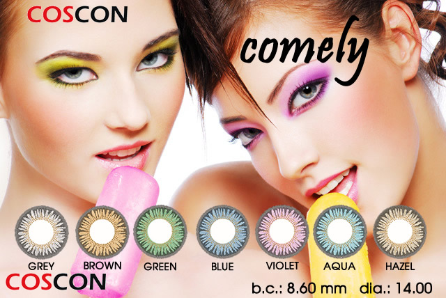COMELY COLORED CONTACTS (7 PAIRS)