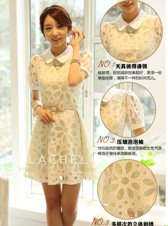 Chiffon Summer Slim Doll Dress S Size