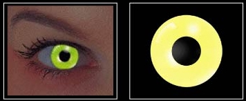 Yellow - Flash Contact Lenses