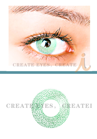 Green Single Colored Contacts (PAIR)