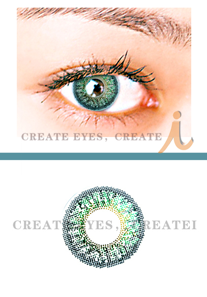 Green Triple Colored Contacts (PAIR)