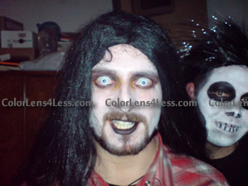 Whiteout Halloween Contacts (PAIR)