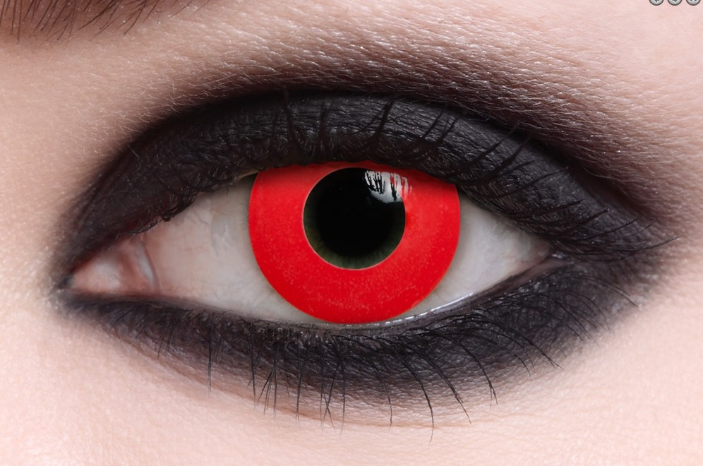 Red Colored Contacts ( Pair )