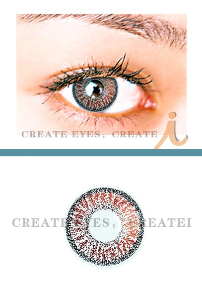 Shining Brown Colored Contact Lenses (PAIR)