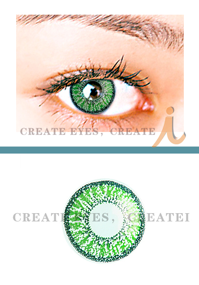 Shining Green Colored Contact Lenses ( Pair )