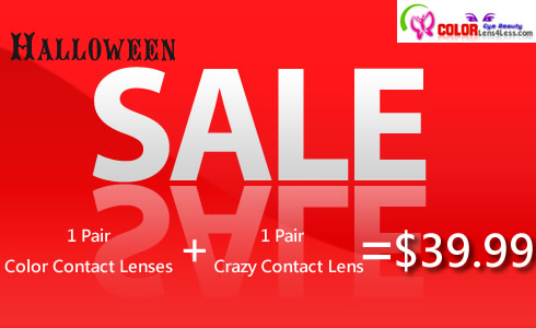 1 Pair Color + 1 Pair Crazy Contact Lens = USD39.99