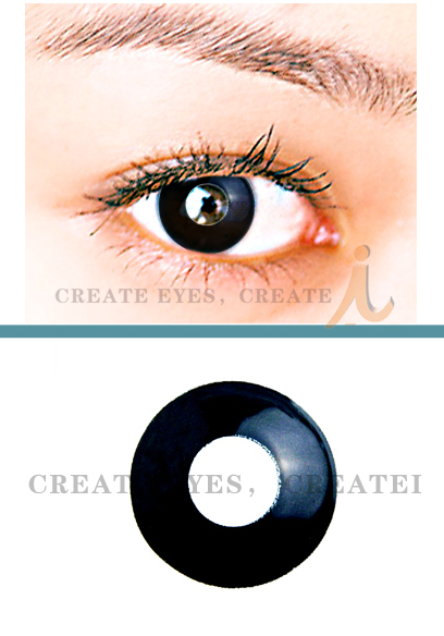 Pearl Black Out Crazy Contact Lens (Pair)