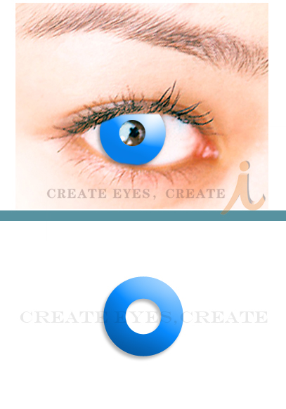Sky Blue Halloween Contacts (PAIR)