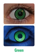 UV Green Manson Crazy Contact Lenses (PAIR)