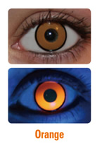 UV Orange Manson Crazy Contact Lenses (PAIR)