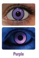 UV Purple Crazy Contact Lenses (PAIR)