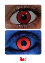 UV Red Manson Crazy Contact Lenses (PAIR)