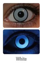 UV White Manson Crazy Contact Lenses (PAIR)