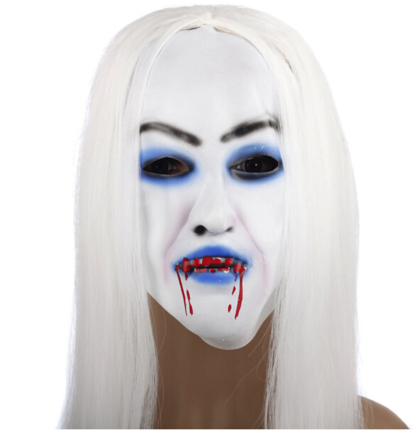 White Wigs Blood Hag Halloween Headgear