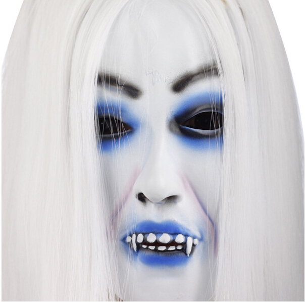 White Wigs Hag Halloween Headgear
