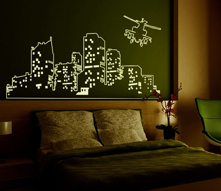 Light of City Glow in The Dark Wall Sticker