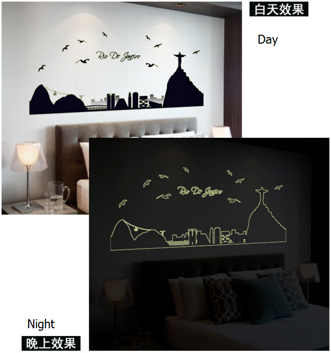 The City Glow in The Dar Wall Sticker