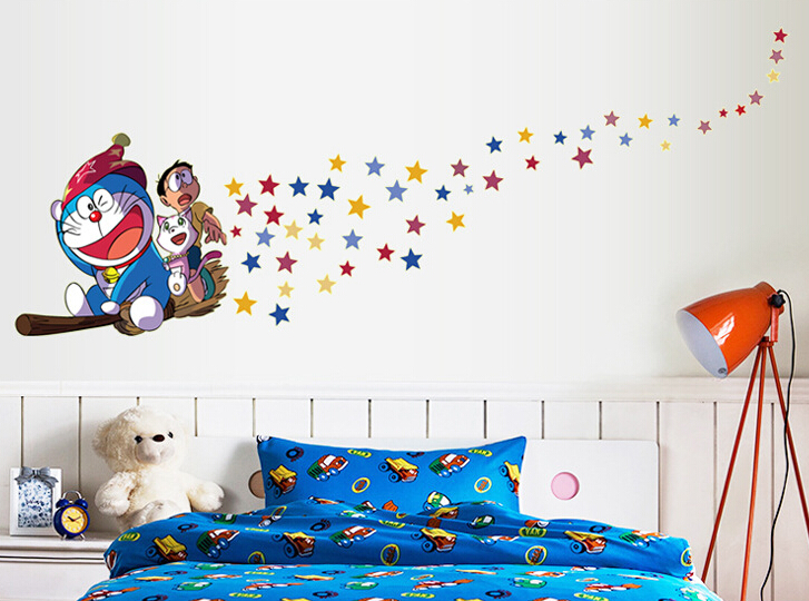 Doraemon Glow in The Dark Wall Sticker