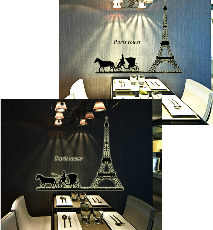 Paris Tower Glow in The Dark Wall Sticker