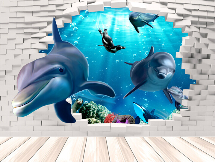 Dolphin 3D Wall Sticker