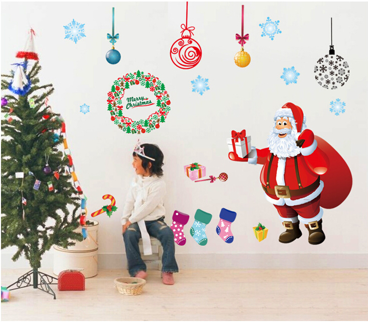 Santa Claus Window Sticker Wall Sticker B