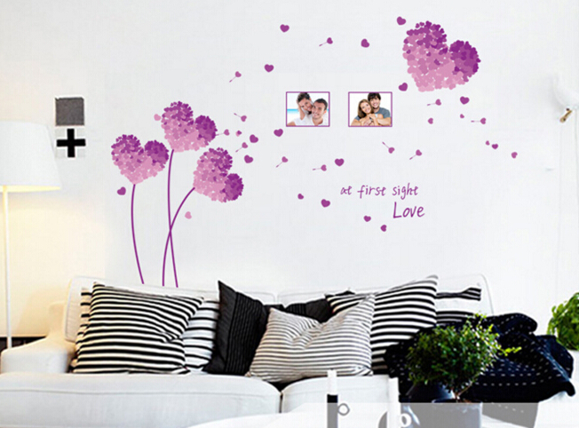 Purple Sight Love Wall Sticker