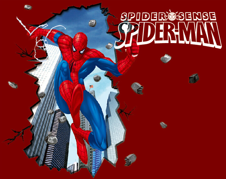 Spider Man 3D Wall Sticker