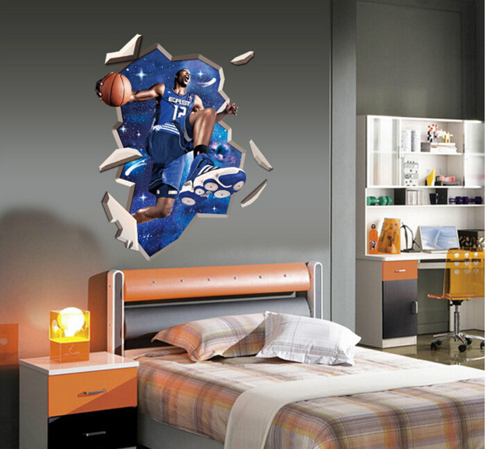 NBA Super Star 3D Wall Sticker
