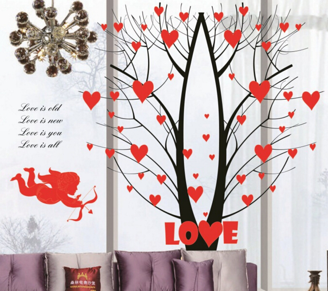 Love is Cupid Love Tree Wall Sticker