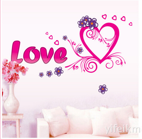 Love and Love Wall Sticker Window Sticker