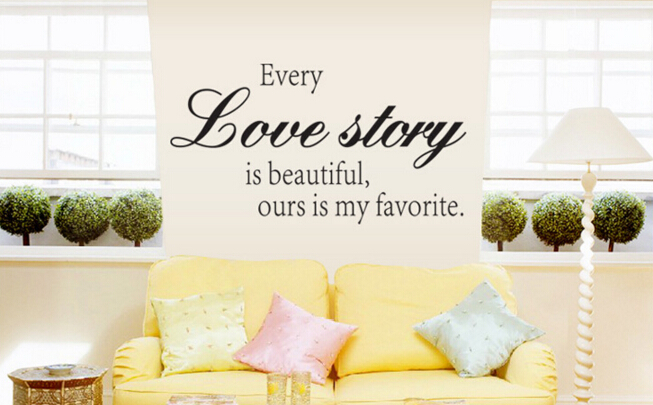 Love Story Wall Sticker