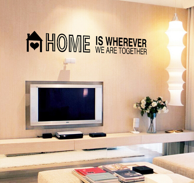 Home is Wherever We are Together Wall Sticker